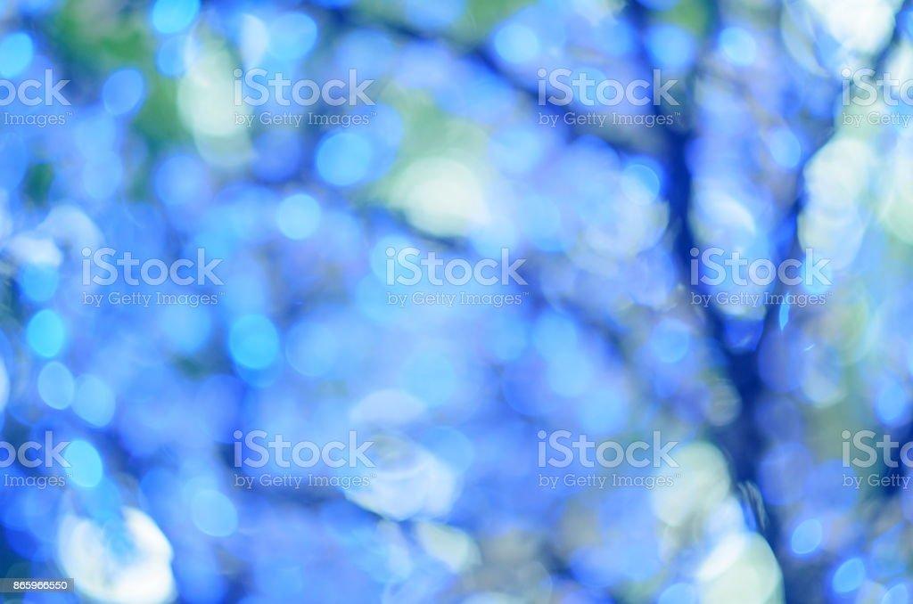 Led Weihnachtsbeleuchtung Baum.Led Weihnachtsbeleuchtung In Form Von Blumen Blaue Bokeh Ausgewählte