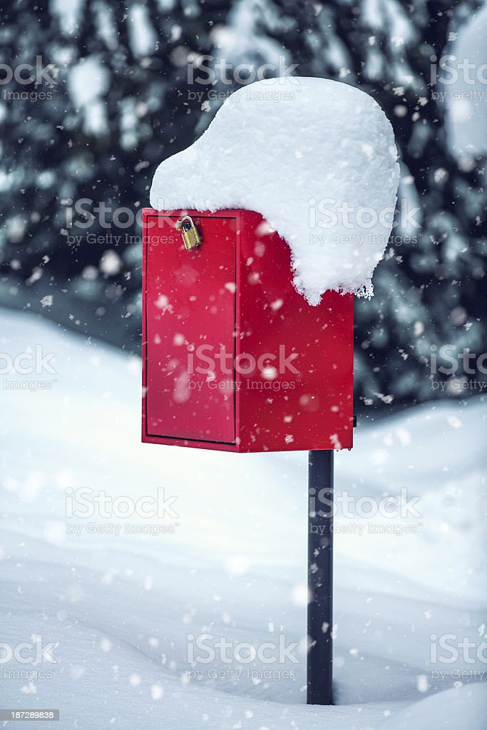 Christmas Letter Box royalty-free stock photo