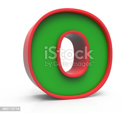 istock 3D Christmas letter  O 650175716