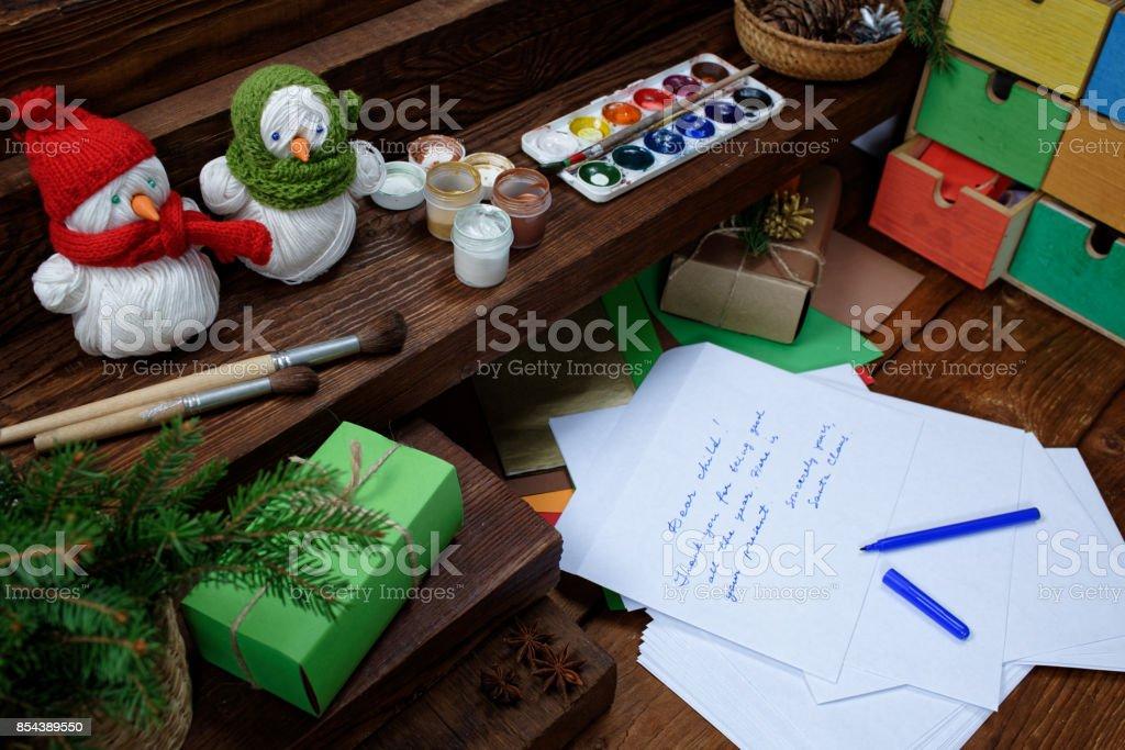 Christmas letter stock photo
