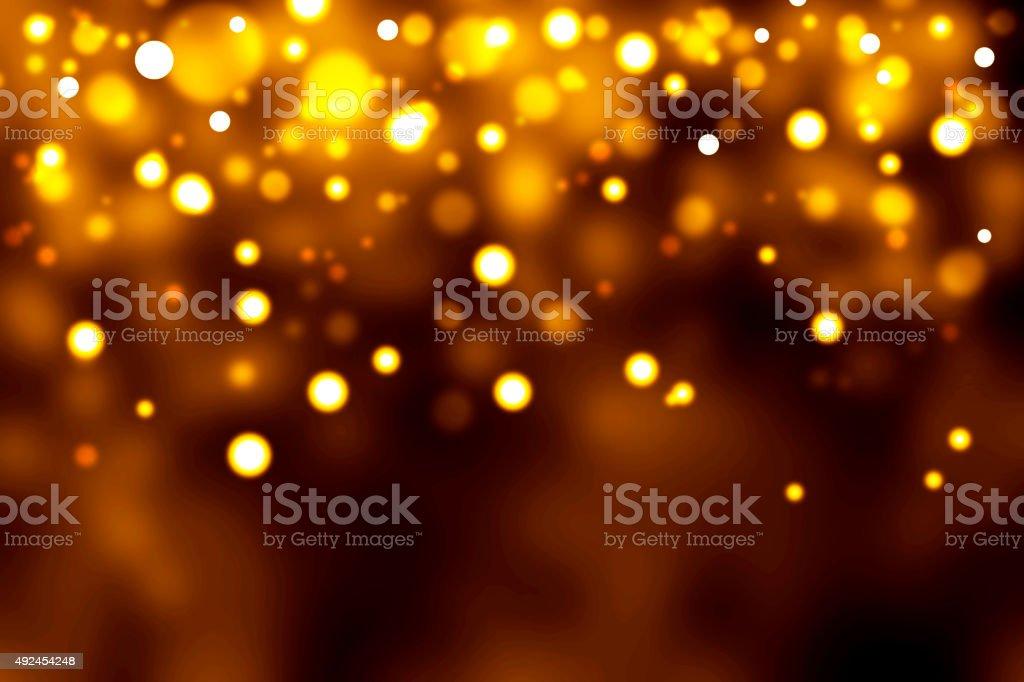 christmas light abstract stock photo - Amber Christmas Lights