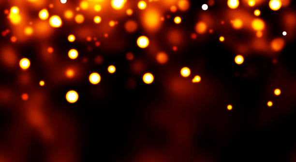 christmas light abstract - light effect stock photos and pictures