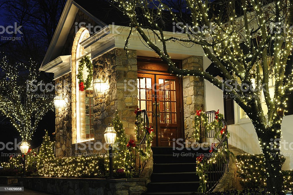 Christmas Light Decorations stock photo