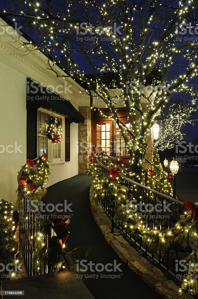 Christmas Light Decorations royalty-free stock photo