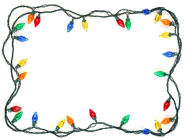 christmas light frame - string stock photos and pictures