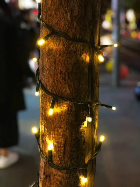 weihnachtslicht. - lichtschlauch stock-fotos und bilder