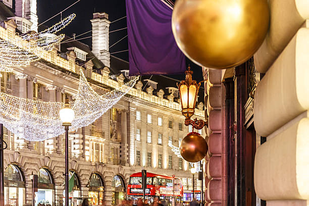 Christmas lights 2016 in Mayfair, London Christmas lights 2016 in Mayfair, London, England mayfair stock pictures, royalty-free photos & images