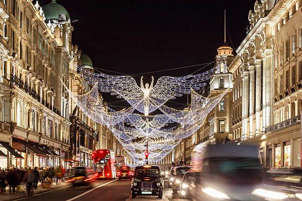 Christmas lights 2016 in Mayfair, London stock photo