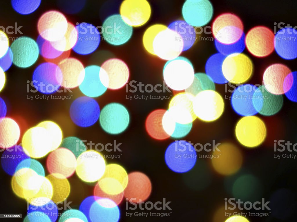 Christmas lights abstract background stock photo