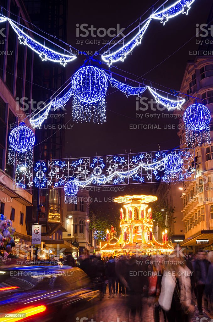 Birmingham Christmas Lights.Christmas Lights And German Market Birmingham City Centre