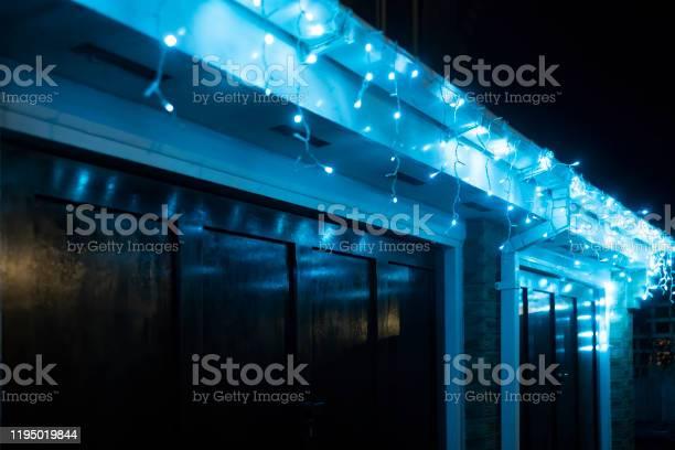 Photo of Christmas lights around a double garage