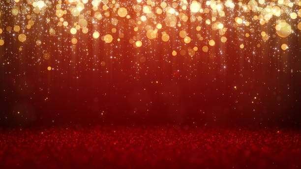 christmas lights background - red stock pictures, royalty-free photos & images