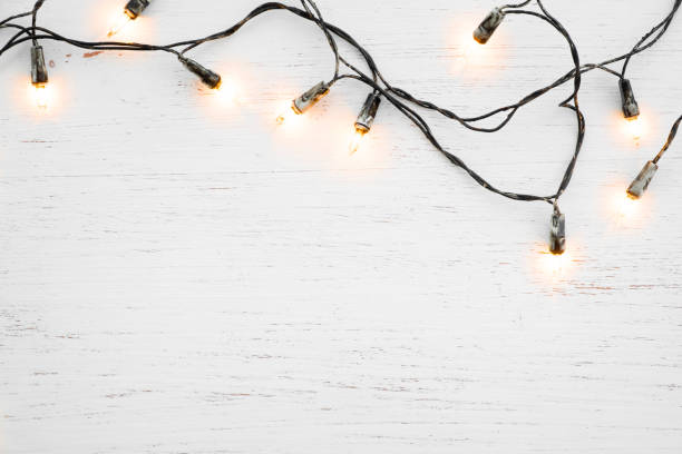 Christmas lights bulb decoration stock photo