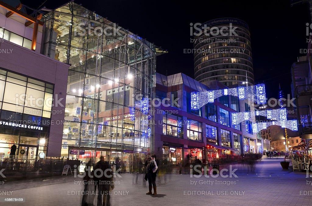 Christmas lights, Bullring Shopping centre, Birmingham royalty-free stock photo