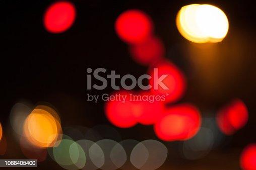 istock Christmas lights defocused background blur with bokeh 1066405400