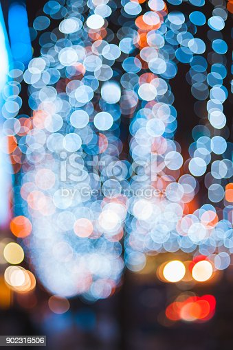 istock Christmas lights defocused background blur with bokeh 902316506