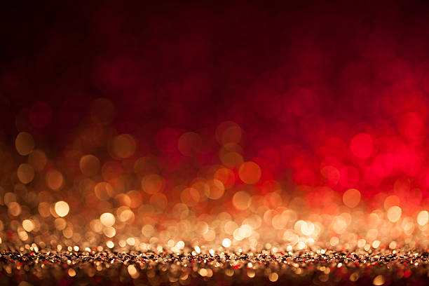 Christmas lights defocused background - Bokeh Gold - Photo