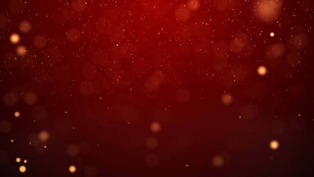 Christmas lights defocused background stock photo