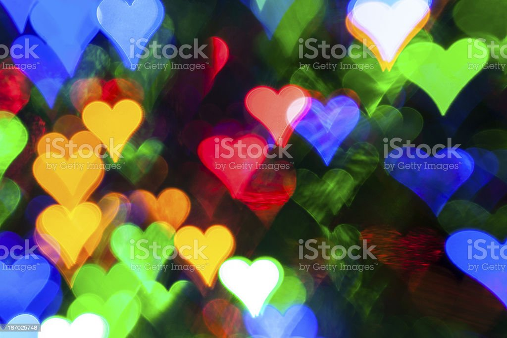 Christmas Lights - Defocused Bokeh Backgrounds Colorful Abstract royalty-free stock photo
