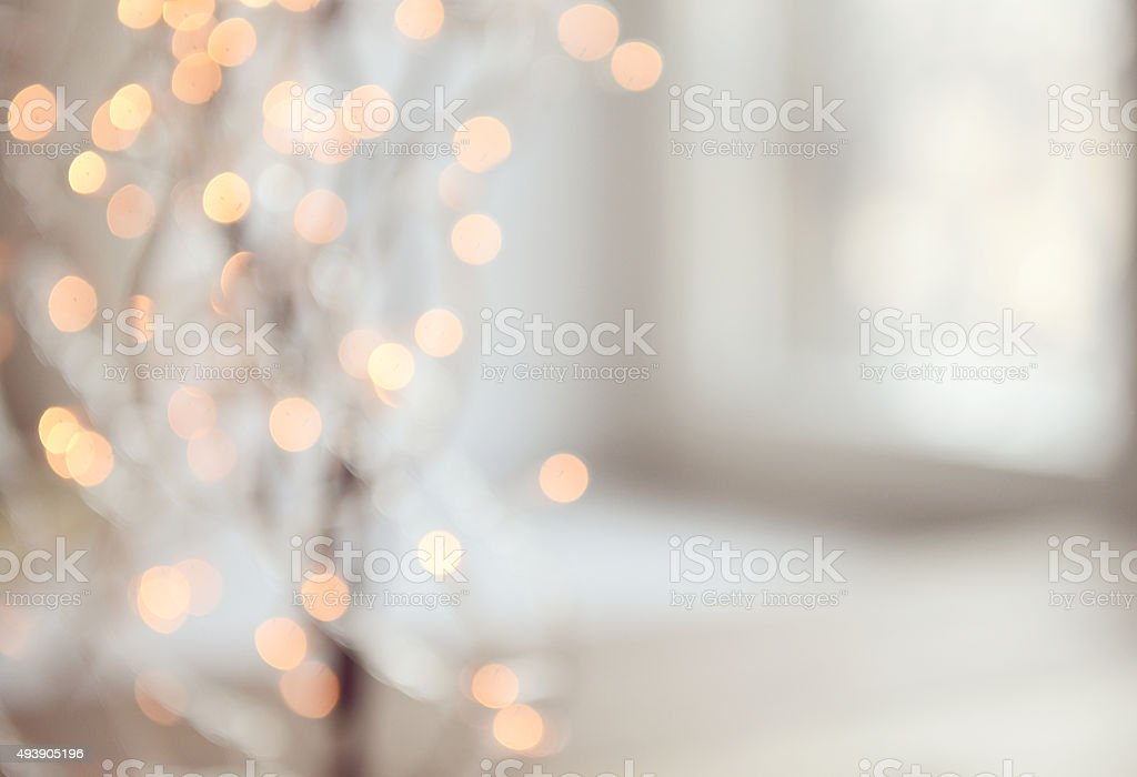 Christmas lights Defocused stock photo