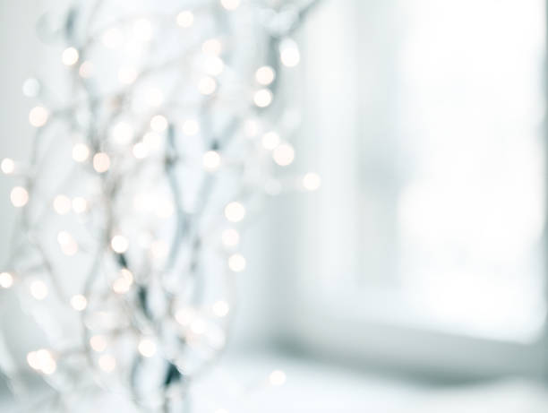 Luces de Navidad Desenfocado - foto de stock