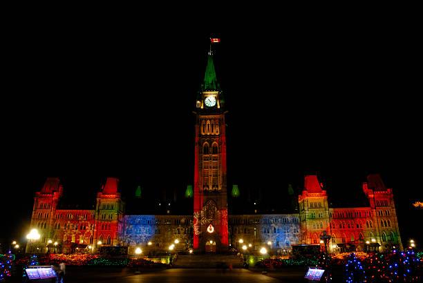 Weihnachtsbeleuchtung in Ottawa – Foto
