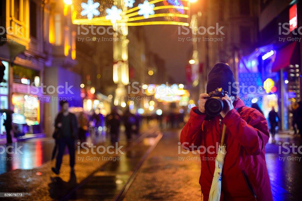 Christmas Lights, Photographer in Istanbul, Turkey stock photo