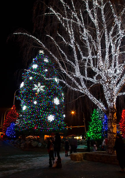 christmas lights - leavenworth washington stock photos and pictures
