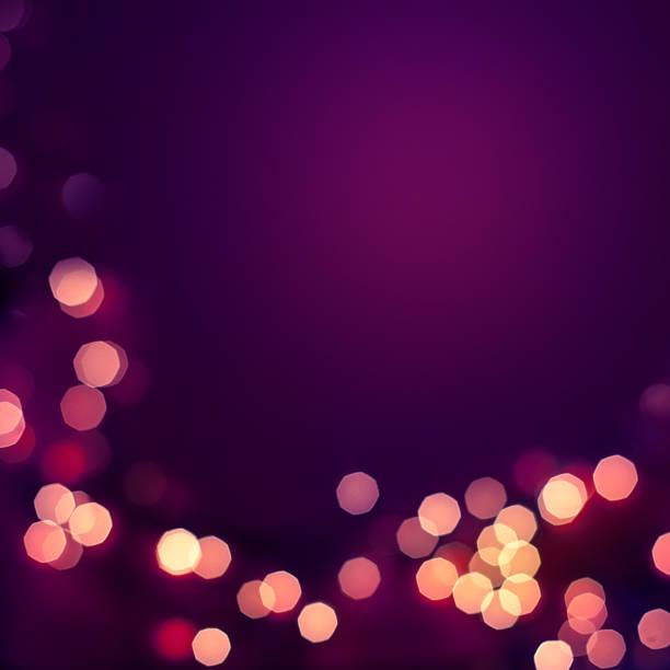 illuminations de noël  - violet photos et images de collection