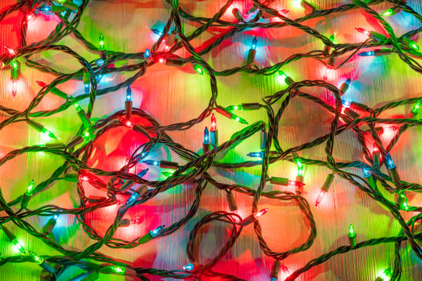 christmas lights - christmas lights imagens e fotografias de stock