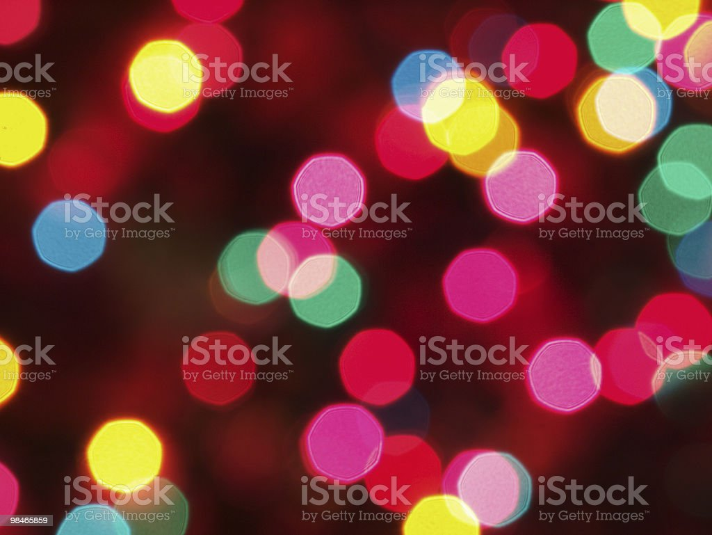 Luci di Natale foto stock royalty-free