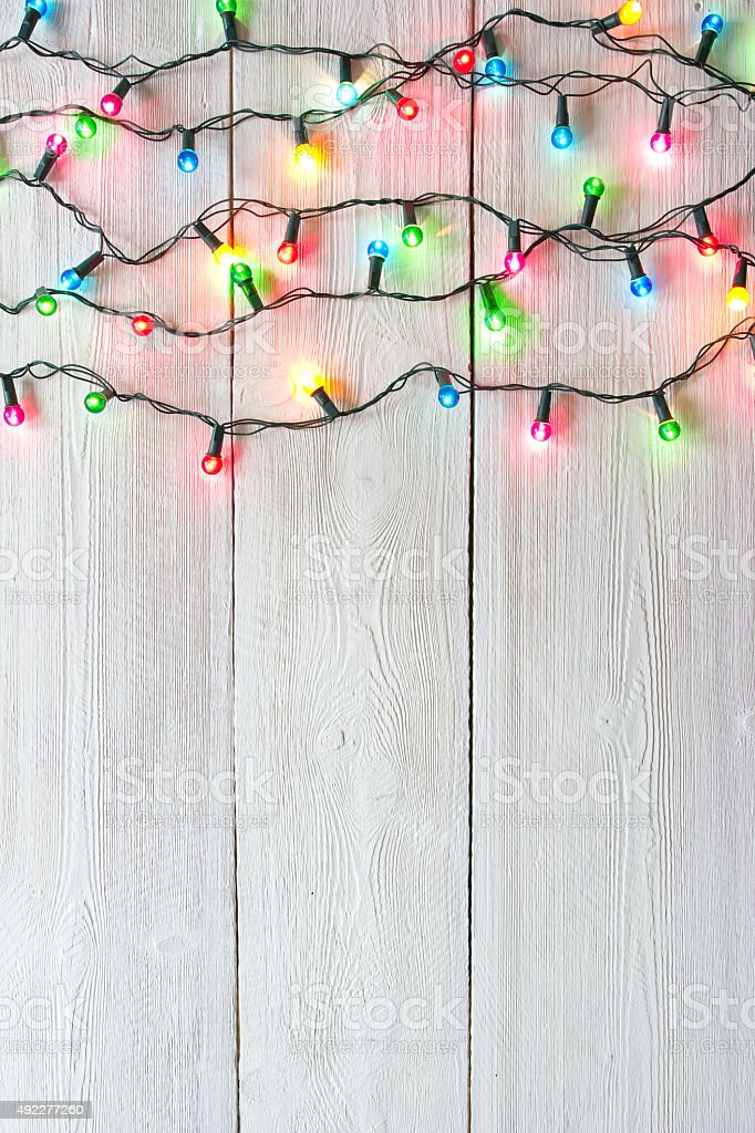 christmas lights series stock photo
