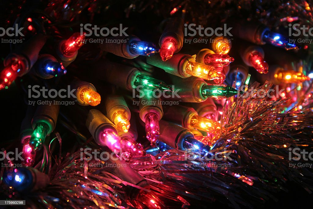 Christmas Lights with Tensile royalty-free stock photo