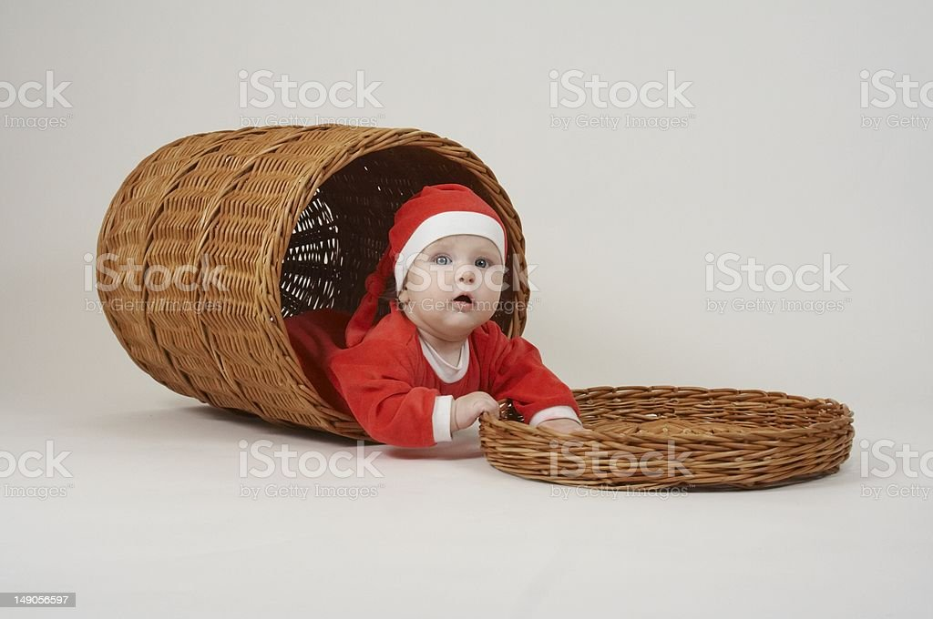 Christmas little boy royalty-free stock photo