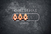 Christmas loading - Blackboard Holiday Decoration Red Baubles Humor