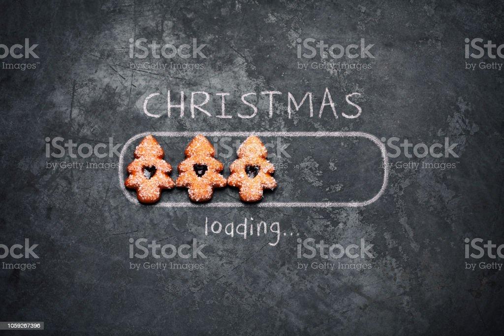 Weihnachten laden - Tafel Urlaub Dekoration rote Christbaumkugeln Humor – Foto