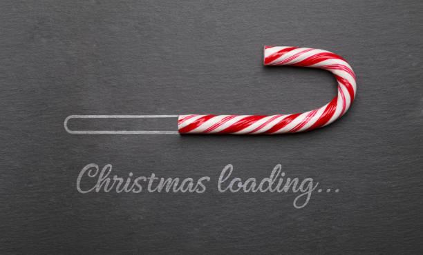 耶誕節載入糖果甘蔗在黑板上 - 裝貨 個照片及圖片檔