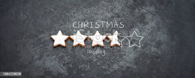 istock Christmas loading - Cookie Holiday Blackboard Metal Red Fun Humor 1064229028