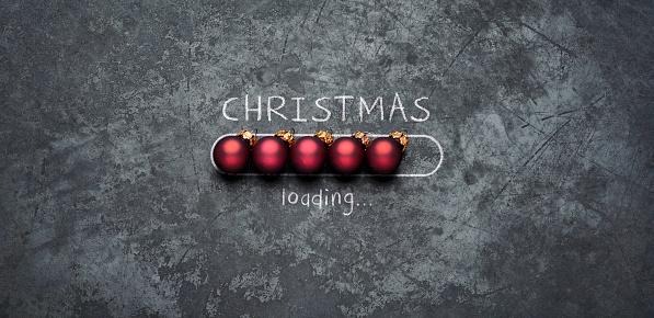 istock Christmas loading - Holiday Blackboard Metal Red Glitter Fun Humor 1066616488