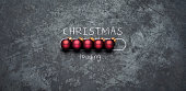 Christmas loading - Holiday Blackboard Metal Red Glitter Fun Humor