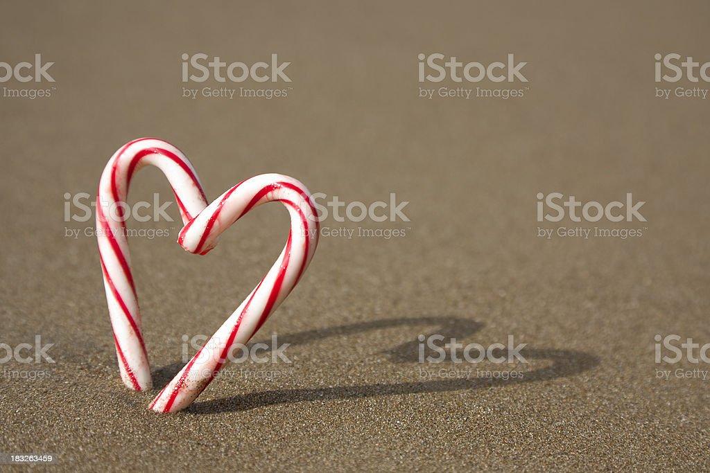 Christmas love on the beach royalty-free stock photo
