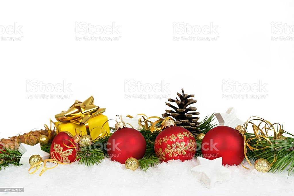 Christmas lower decoration stock photo