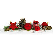 istock Christmas  lower decoration with red star 622526236