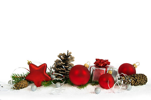 Christmas  lower decoration with red star - foto stock