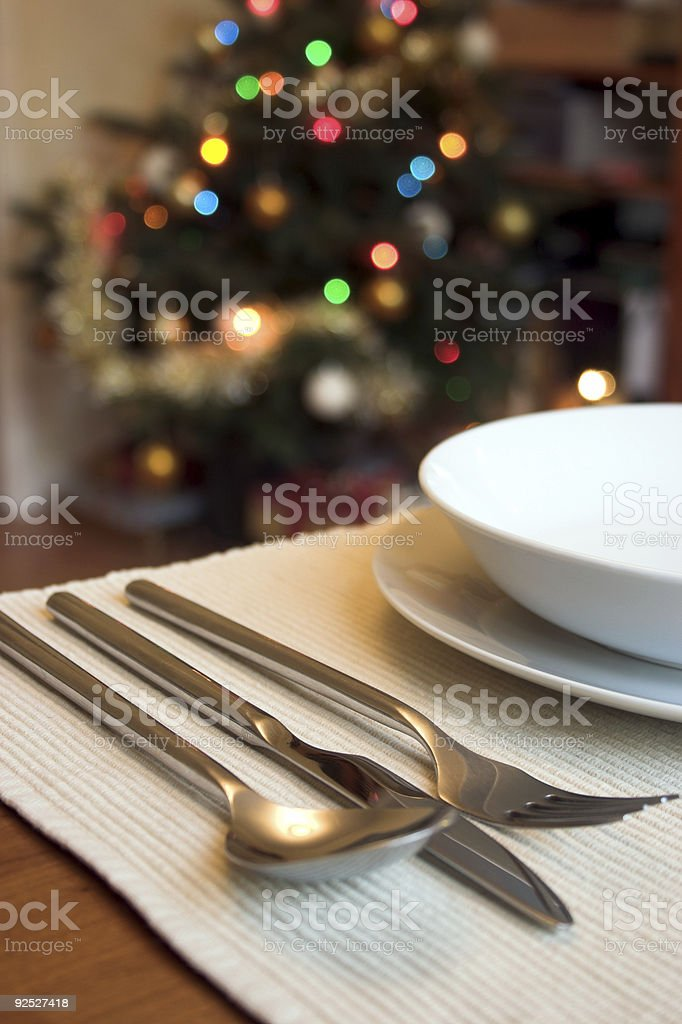 Christmas lunch royalty-free stock photo