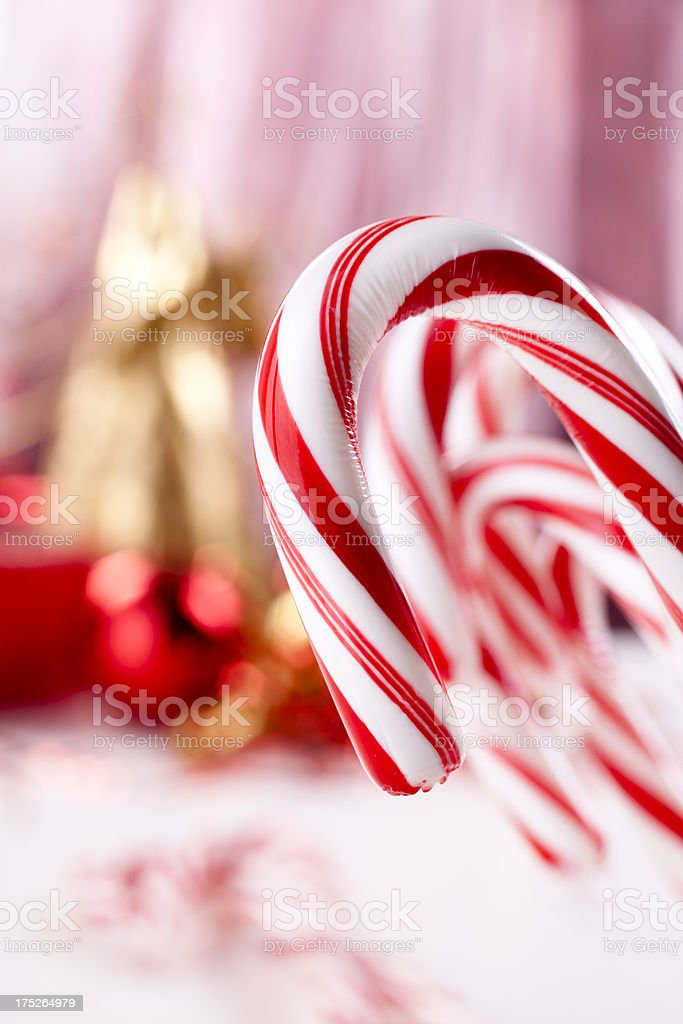 Christmas:  Macro of Candy canes royalty-free stock photo