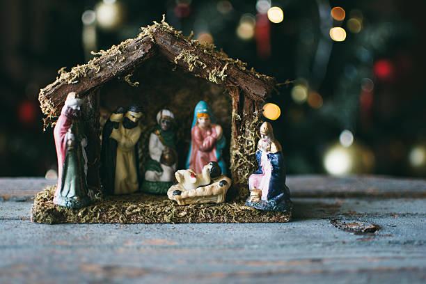 Christmas Manger scene stock photo