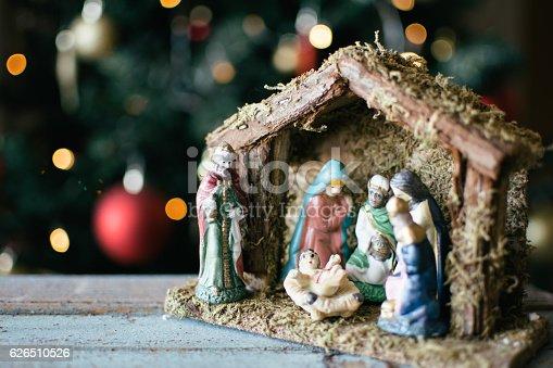 istock Christmas Manger scene 626510526