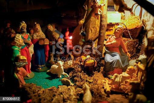 istock Christmas Manger scene 870064512