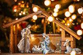istock Christmas Manger scene with figurines 1082919404